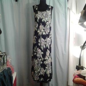 💖 Carole Little Maxi Dress size 6 flowers layered